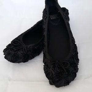 Hot Kiss Black Flower Ballet Flats